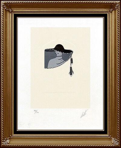 Erté (Romain de Tirtoff), 'ERTE Color Lithograph Original RARE Art Deco Dress Costume Design Signed Fashion', 1970-1989