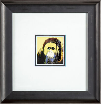 Andy Warhol, 'Sumerian Orangutan Endangered Species Gallery Invitation Announcement', 1983