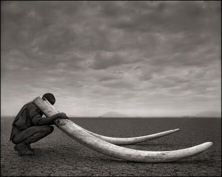 Nick Brandt, 'Ranger with Tusks of Killed Elephant, Amboseli ', 2011