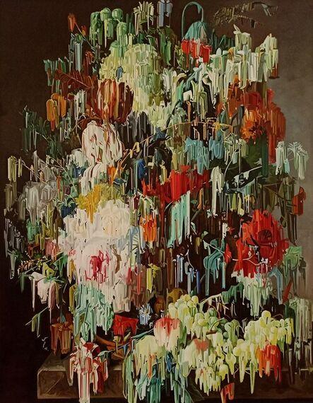 Alexis Mata, 'Uvas, rosas , duraznos tulipanes  y gardenias', 2021