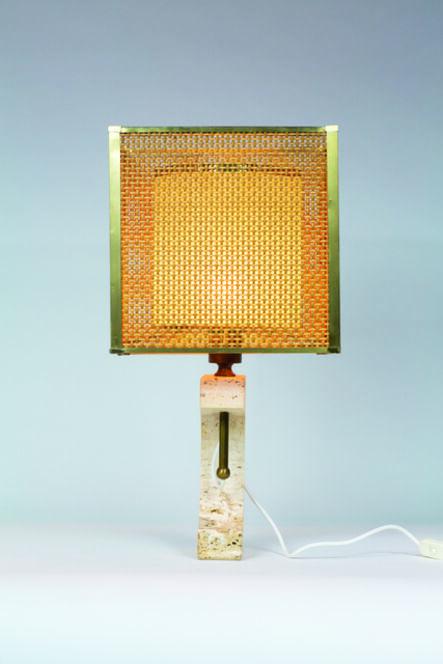 Fratelli Mannelli, 'Travertine table lamp from Fratelli Mannelli livree', vers 1970