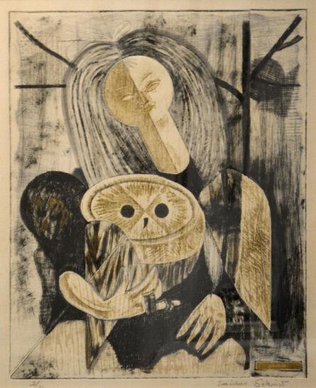 Junichiro Sekino, 'Girl Holding Owl', ca. 1960