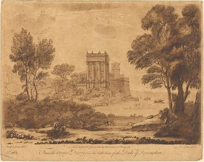 "Richard Earlom after Claude Lorrain, 'Landscape No. 162 from ""Liber Veritatis""'"