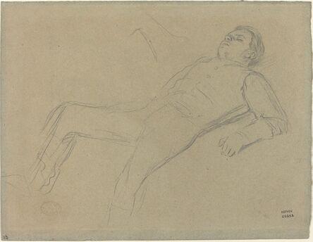 "Edgar Degas, 'Fallen Jockey (study for ""Scene from the Steeplechase: The Fallen Jockey"")', ca. 1866"