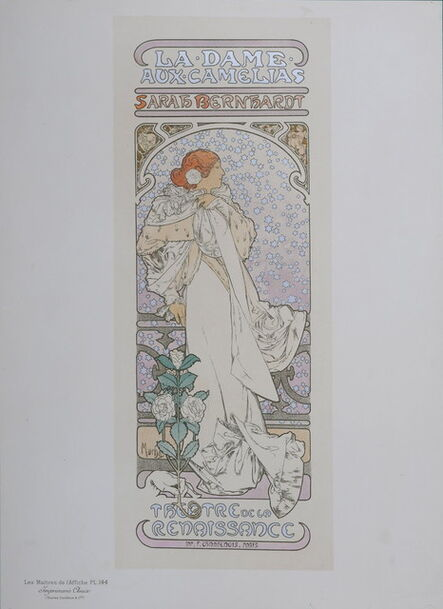 Alphonse Mucha, 'La Dame Aux Camelias', 1899