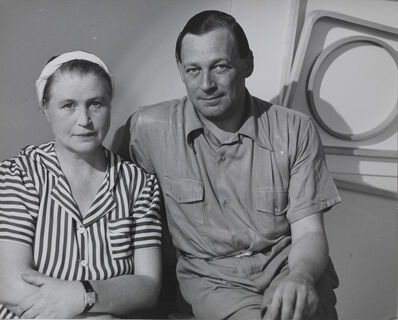 Herbert Matter, 'Aino Marsio‐Aalto and Alvar Aalto in the Artek‐Pascoe showroom, New York', 1940