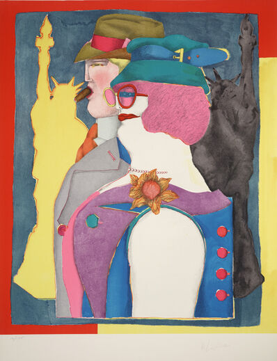 Richard Lindner, 'Out-of-Towners from Fun City', 1971