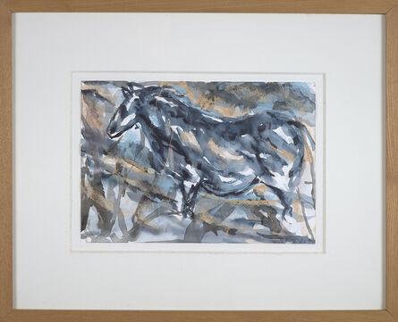 Elaine de Kooning, 'Cave #84, Blue and Gold Horse', 1986