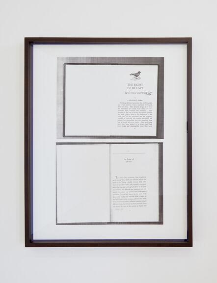 Alejandro Cesarco, 'Untitled (Blue Frame)', 2015
