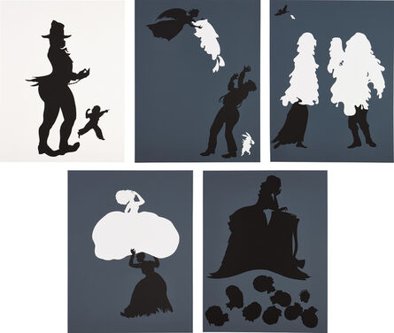Kara Walker, 'Emancipation Approximation: Scenes 5; 9; 15; 18; and 26', 1999-2000