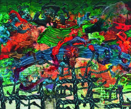 Fabian Marcaccio, 'Predator Remix #1', 2000