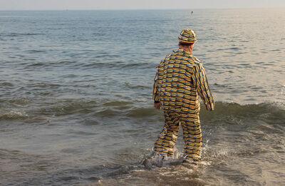Norman Borden, 'MTA Man, Coney Island Polar Bear Swim'