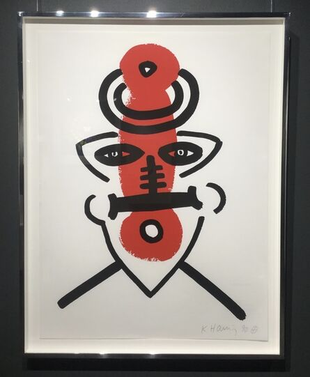 Keith Haring, 'The Story of Red and Blue (No. 9)'