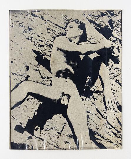 John S Barrington, 'Nude Male Model Posing Against Rock Face', 1921-1991
