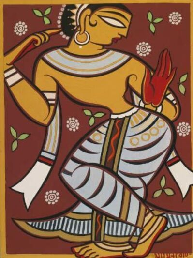 Jamini Roy, 'Untitled (Gopi)'
