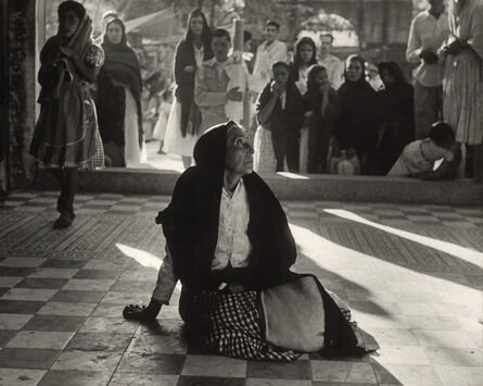 Herbert List, 'Mexican peasant in adoration at a church.', 1958