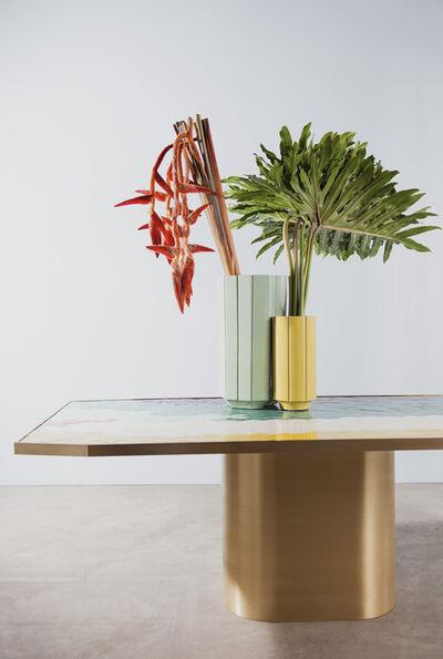 India Mahdavi, 'Landscapes vase#2 S1 andvase#3 S1 on table#2', 2013