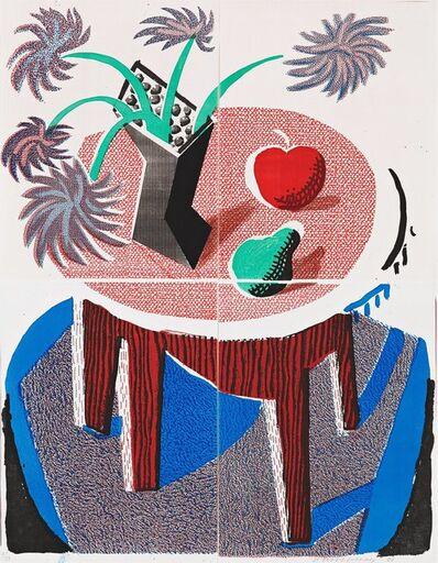 David Hockney, 'Flowers, Apple & Pear on a Table, July 1986', 1986