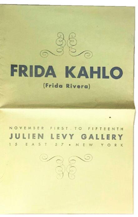 "Frida Kahlo, '""Frida Kahlo (Frida Rivera)"", 1938, RARE Exhibition Catalogue, Julien Levy Gallery NYC.', 1938"