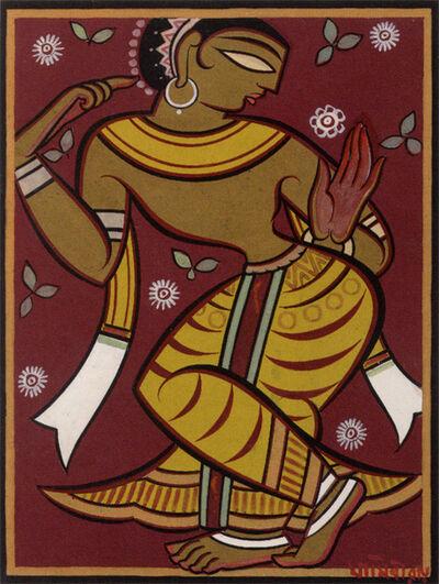 Jamini Roy, 'Untitled (Dancing Gopi)'