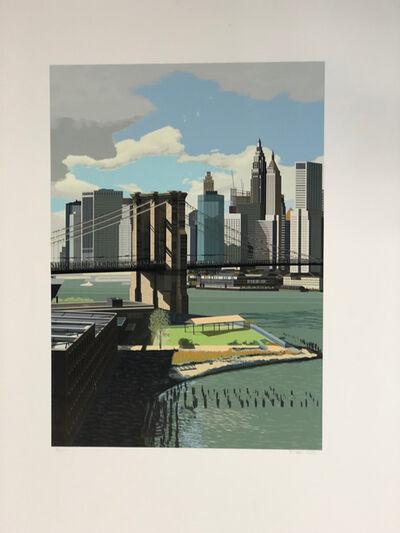 Richard Estes, 'East River, New York', 1989