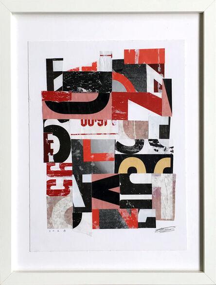 Saïd Kinos, 'Letter Study 2.2', 2018