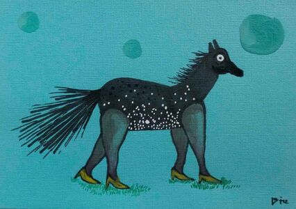 Tiz Creel, 'If horses would be fashionistas', 2018