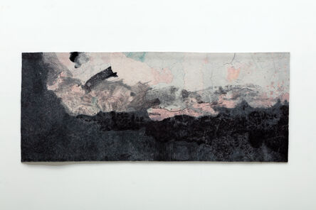 Gary Goldberg, 'Finding the Universe in Oaxaca, Landscape, Gray Ground with Blue and Pink Sky', 2017