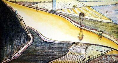 "Wayne Thiebaud, '""Hill River""', 2002"