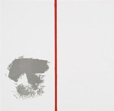 "Blinky Palermo, 'Ohne Titel ""mit rotem Strich""', 1970"