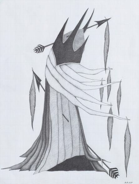 Afruz Amighi, 'Fool's Headdress (drawing)', 2017