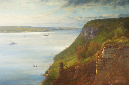 George Inness, 'Palisades on the Hudson', ca. 1866 or 1876