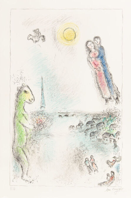 Marc Chagall, 'The Two Banks', 1980