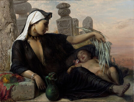 Elisabeth Jerichau Baumann, 'An Egyptian Fellah Woman with her Baby', 1872