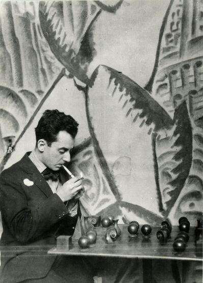 Man Ray, 'Man Ray Playing Chess', 1922