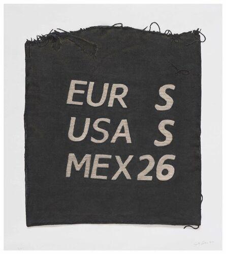 Analía Saban, 'EUR S, USA S, MEX 26, Clothing Tag', 2019