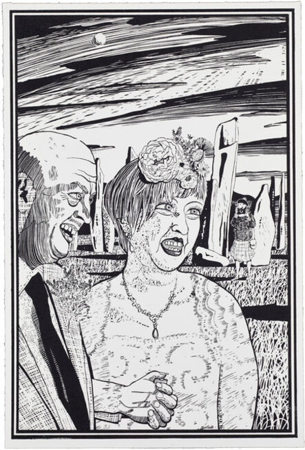 Grayson Perry, '05, Six Snapshots of Julie (Black and White)', 2015