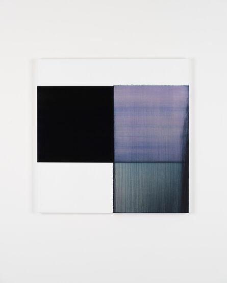 Callum Innes, 'Exposed Painting Bluish Violet Red Oxide', 2019