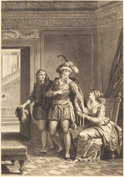 after Jean-Jacques-François Le Barbier I, 'Joconde: Le depart'