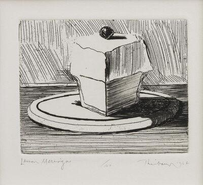 Wayne Thiebaud, 'Lemon Meringue', 1964