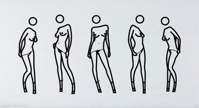 Julian Opie, 'Bijou gets undressed 4 (2004) (signed)', 2004