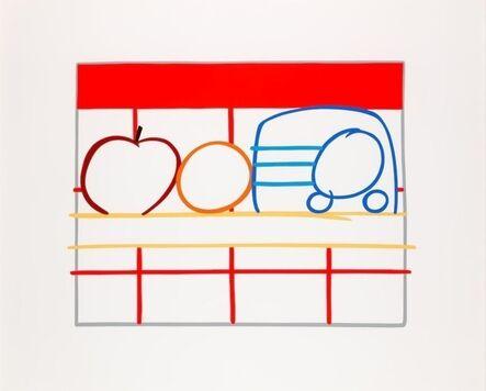 Tom Wesselmann, 'Still Life with Apple, Orange and Radio', 1991