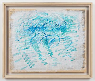 Paul Thek, 'Untitled (Blue Zig-Zags)', 1988