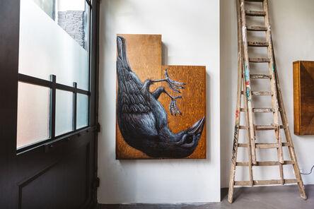 ROA, 'CORVUS FRUGILEGUS MMXVIII (Rook)', 2018