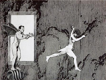 Stacey Steers, 'Phantom Canyon (woman fleeing batwing man)'