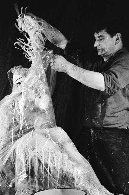 Otto Muehl, 'Materialaktion Nr. 5,Verschnürung eines weiblichen Körpers', 1964