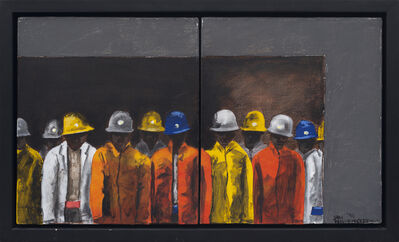 Sam Nhlengethwa, 'Untitled I (After the Mine Trip)', 1996