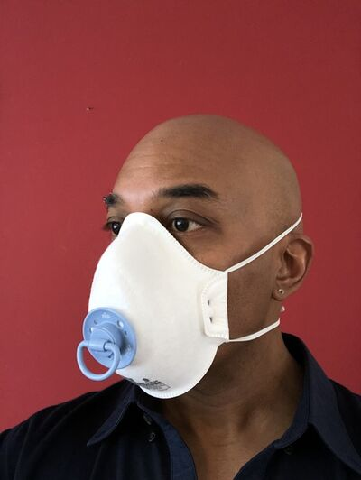 David C. Terry, 'Pacifist (or, baby's first face mask)', 2020