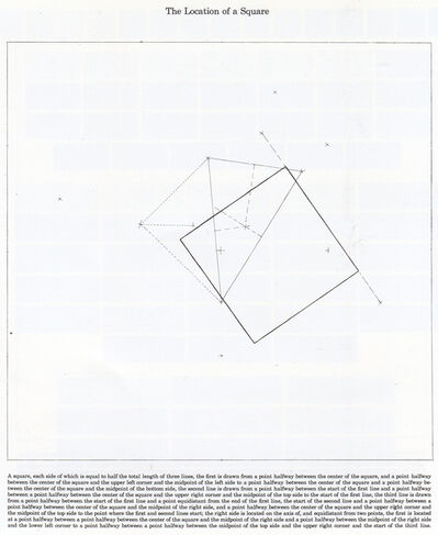 Sol LeWitt, 'The Location of a Square', 1974