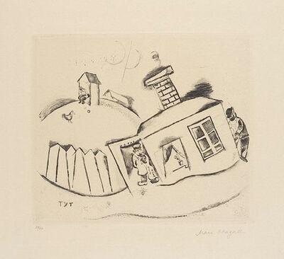 Marc Chagall, 'Haus in Peskowatik', 1922
